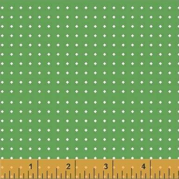 Uppercase Volume 2 by Janine Vangool for Windham Fabrics - Diamond Dot in Green - Fat Quarter