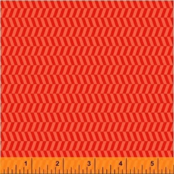 Uppercase by Janine Vangool for Windham Fabrics - Tweed in Orange - Fat Quarter