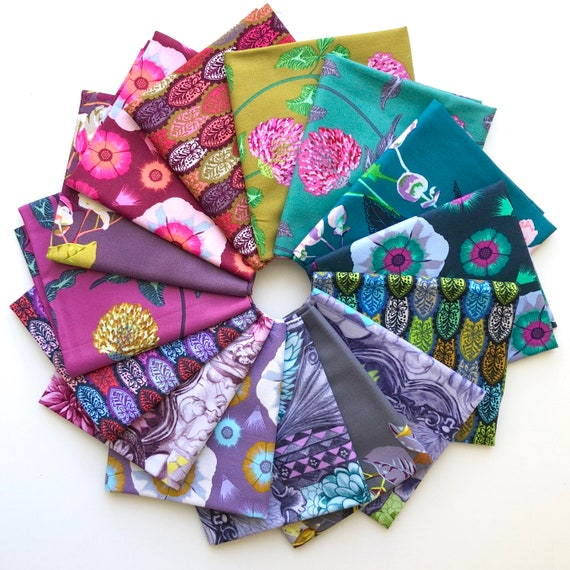 English Summer Fat Quarter Bundle of Anna Maria Horner Fabrics -- 15 in total