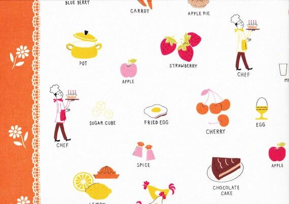 Lighthearted by Ayumi Takahashi for Kokka - Swedish Kitchen in Orange