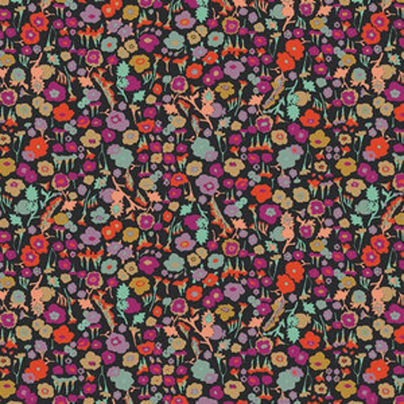 Plumage Fusion by Art Gallery Fabrics - Pretty Ditsy in Spices - Fat Quarter