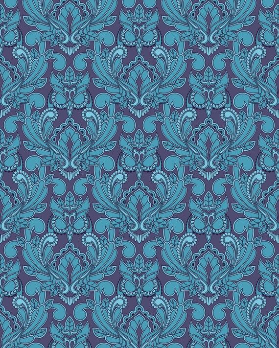 Fat Quarter Mini Owl in Pacific - Tula Pink's True Colors 2015 for Free Spirit Fabrics