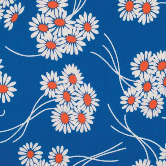 Katie Jump Rope by Denyse Schmidt for Free Spirit Fabrics -  Daisy Bouquet in Royal