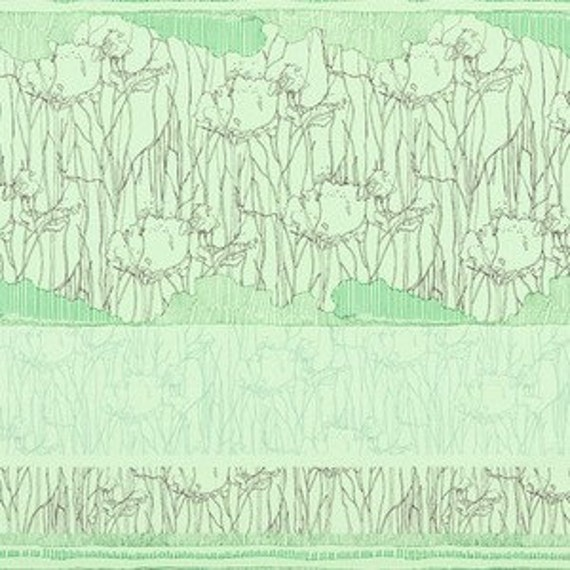 In Stock! Friedlander by Carolyn Friedlander -- 25cm strip x Width of Fabric-- Tree Stripe Border in Pistachio