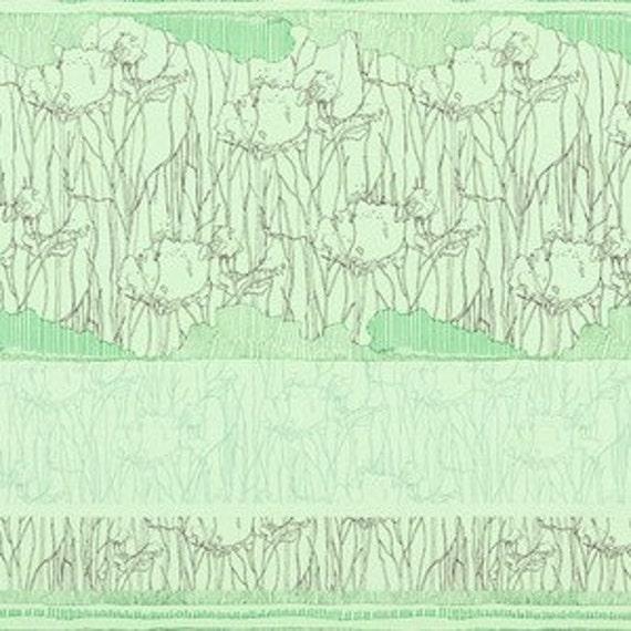 In Stock! Friedlander by Carolyn Friedlander -- Fat Quarter Tree Stripe Border in Pistachio