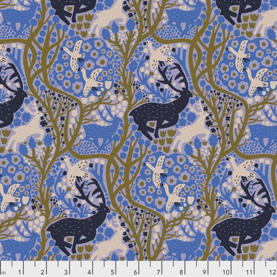 Endless Summer by Monika Forsberg for Anna Maria Horner's Conservatory Chapter 3 - Fat Quarter of Onward in Blueberry