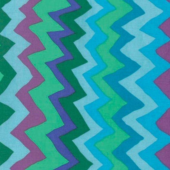 Kaffe Fassett Collective  -- Fat Quarter of Sound Waves in Spring