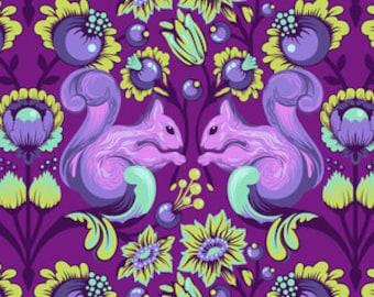 Fat Quarter Squirrel in Foxglove - Tula Pink's All Stars Fabric for Free Spirit Fabrics