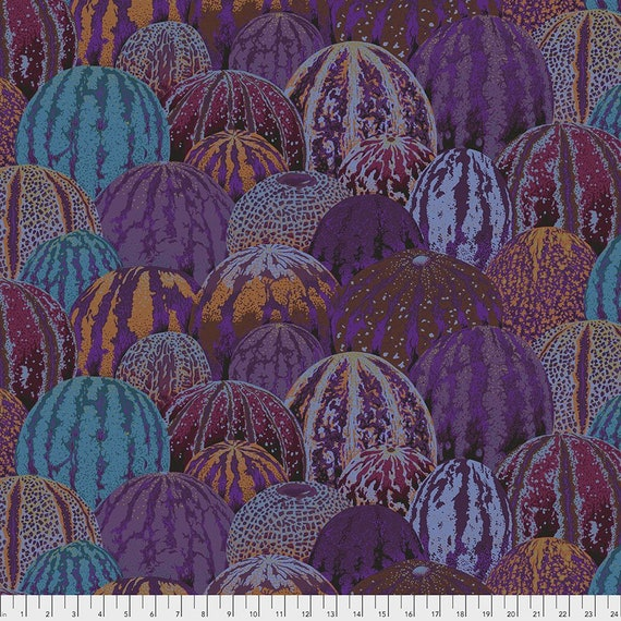 Kaffe Fassett Collective August 2020 -- Fat Quarter of Philip Jacobs Watermelons in Earth