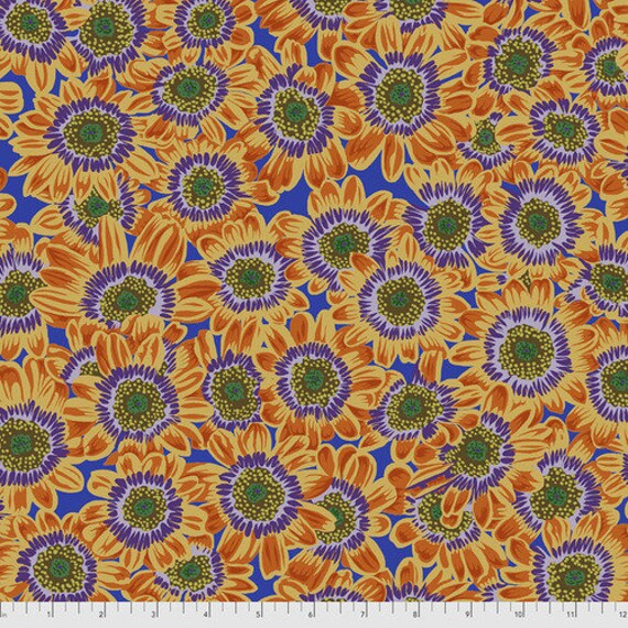 Kaffe Fassett Collective August 2021 -- Fat Quarter of Philip Jacobs Lucy in Orange