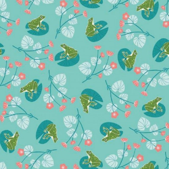 Rivelin Valley by Bethan Janine for Dashwood Studio - Fat Quarter of Frogs on Blue