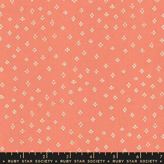 Heirloom Handkerchief in Melon (RS4030 11) by Alexia Marcelle Abegg for Ruby Star Society -- Fat Quarter