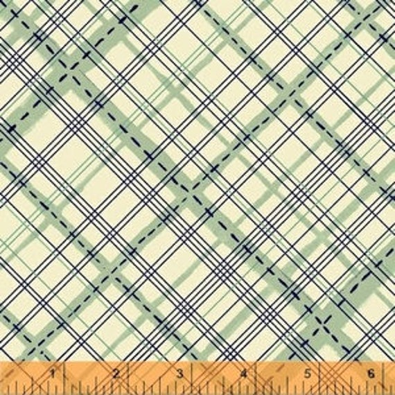 Meriwether by Amy Gibson for Windham Fabrics - Homespun in Sea Glass - Fat Quarter