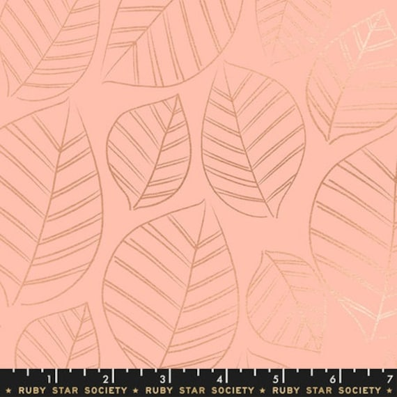 Aviary -- Leafy in Peach (RS5003-12M) by Ruby Star Society for Moda -- Fat Quarter