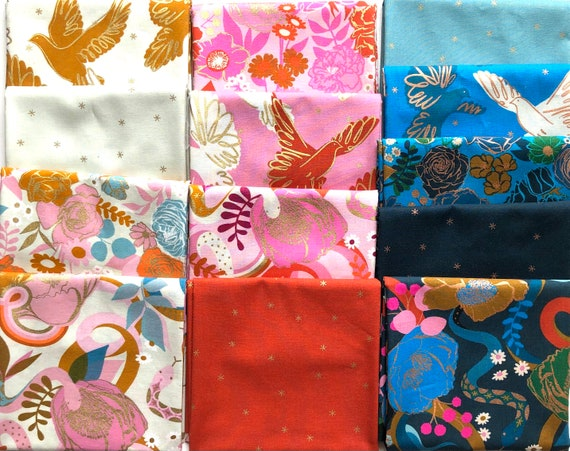 Rise And Spark by Melody Miller - Ruby Star Society - Fat Quarter Bundle of 13 prints (minus border prints)