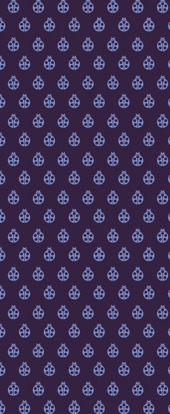 Fat Quarter Lady Bug in Abyss - Tula Pink's True Colors 2015 for Free Spirit Fabrics