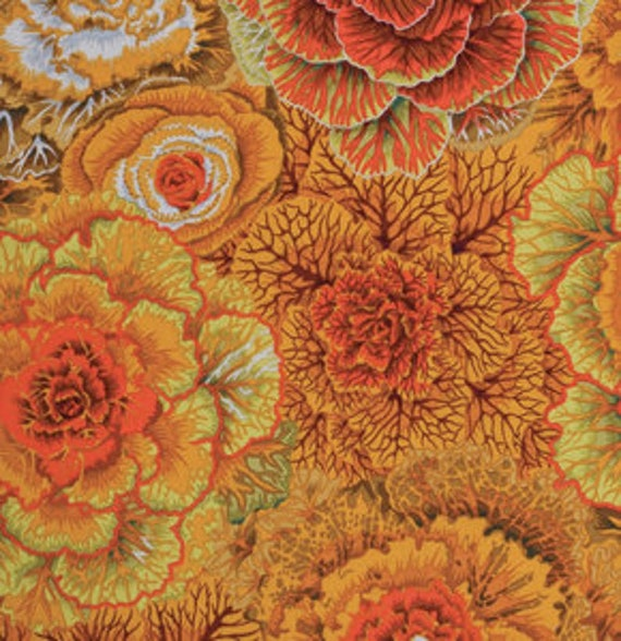 Kaffe Fassett Collective Classic -- Fat Quarter of Philip Jacobs Brassica in Brown