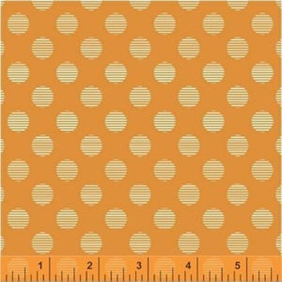 Hello Jane by Allison Harris for Windham Fabrics - Circles in Orange - Fat Quarter