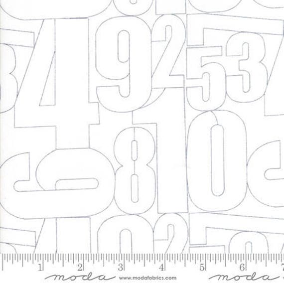 Moda Thrive Outer Space in Off White Numeral (1090121) by Natalia and Kathleen -- Fat Quarter