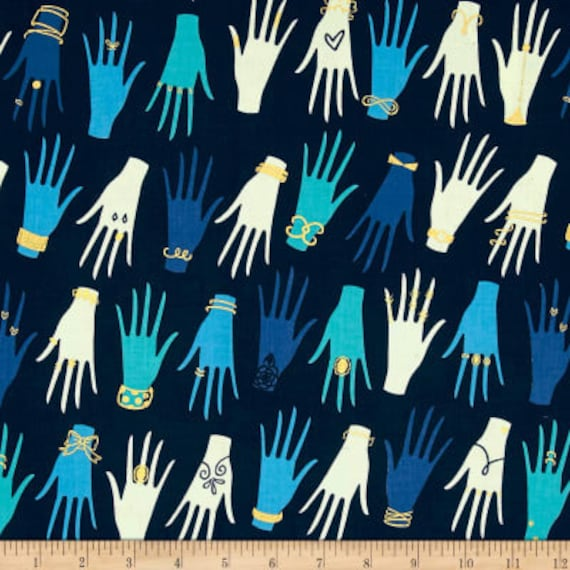 Beauty Shop -- Manicure in Navy by Melody Miller and Sarah Watts for Cotton and Steel
