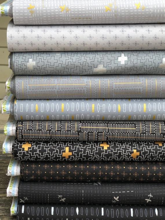 Wayside Fat Quarter Bundle by Karen Lewis for Robert Kaufman Fabrics-- 10 in total -- Handcut Metric Size