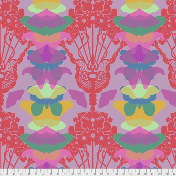 Hindsight by Anna Maria Horner for Free Spirit Fabrics- Fat Quarter of Ghost Nouveau in Lilac