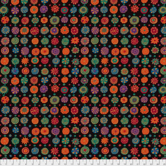 Kaffe Fassett Collective  -- Fat Quarter of Kaffe Fassett Fall 2017 Whirligig in Black