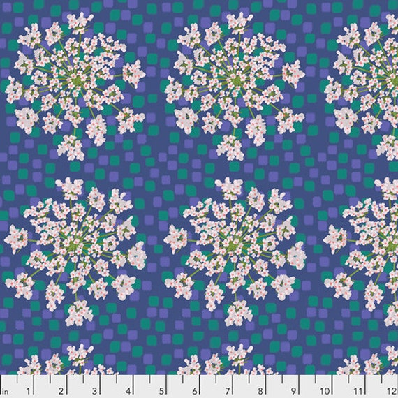 One Mile Radiant by Anna Maria Horner for Conservatory Chapter 3 with Free Spirit Fabrics- Fat Quarter of Queen Anne in Lagoon