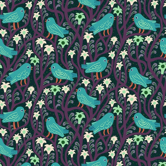 Savernake Road by Monkia Forsberg for Anna Maria Horner Conservatory with Free Spirit Fabrics - Fat Quarter Shirlock in Eggplant