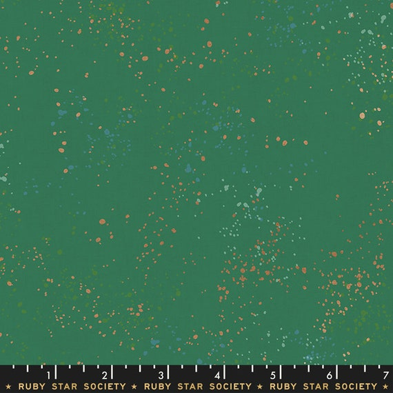 Speckled -- Metallic Emerald Green (RS5027-74M) by Ruby Star Society for Moda -- Fat Quarter