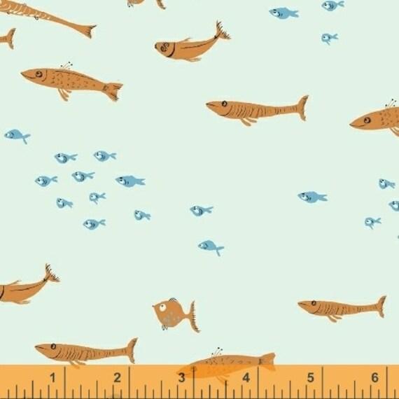 Heather Ross Mendocino for Windham Fabrics -Swim Class in Light Blue