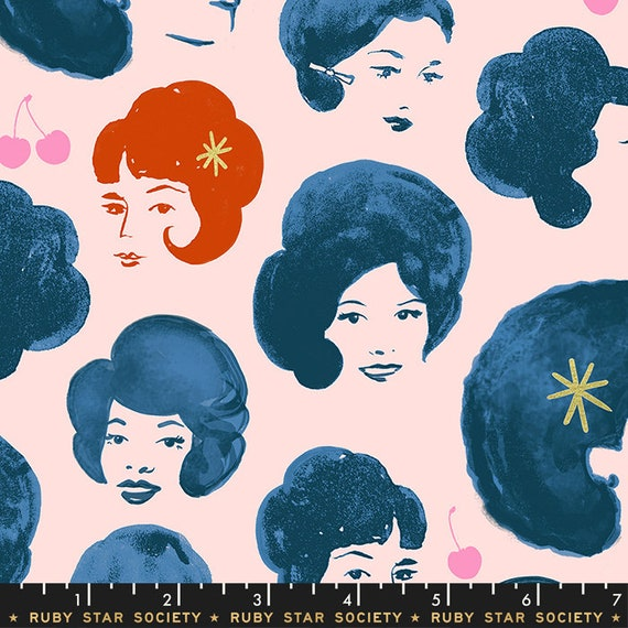 Darlings -- Bouffant Metallic in Teal (RS5012-15M) by Ruby Star Society for Moda -- Fat Quarter