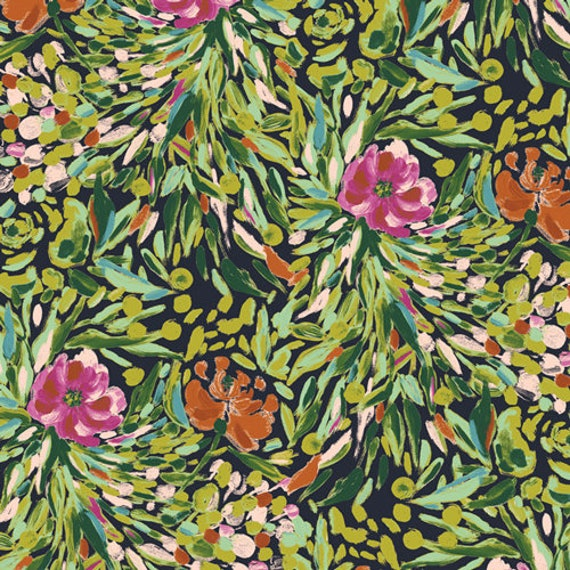 Bloomsbury by Bari J for Art Gallery Fabrics -  Fat Quarter of Writers Garden Stem