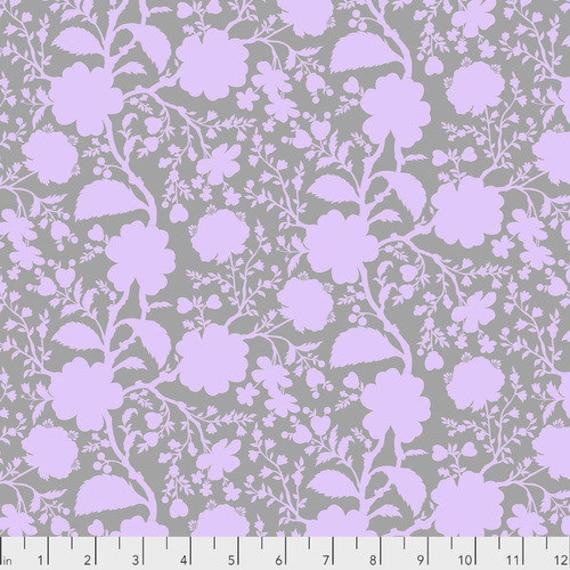 Fat Quarter Wildflower in Hydrangea - Tula Pink's True Colors for Free Spirit Fabrics