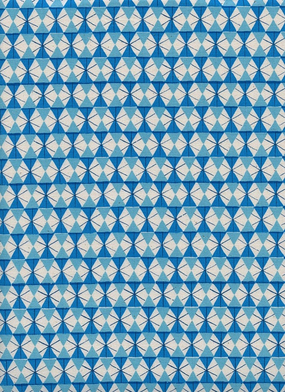 Welsummer by Kimberly Kight for Cotton and Steel -- Fat Quarter of Chicken Wire in Bright Blue