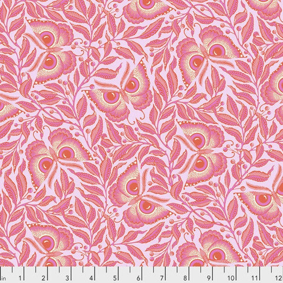 Fat Quarter Enlightenment in Cotton Candy  - Tula Pink's Pinkerville for Free Spirit Fabrics