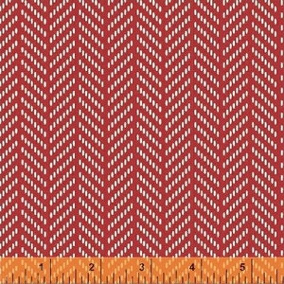 Hello Jane by Allison Harris for Windham Fabrics - Herringbone in Red - Fat Quarter