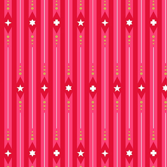 Holiday by Alison Glass -- Fat quarter of Ribbon in Peppermint