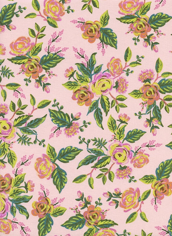 Menagerie -- Jardin de Paris in Peony by Rifle Paper Company for Cotton and Steel