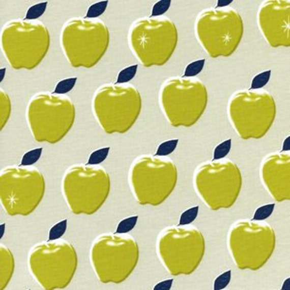 Fat Quarter Picnic Apples in Citron by Melody Miller for Cotton and Steel
