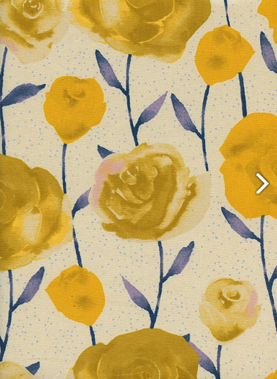 Firelight by Cotton + Steel Collaboration -- Fat Quarter of Roses in Yellow