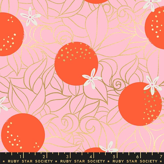 Florida Shade Orange Blossoms in Posy RS2025 12M by Sarah Watts -Ruby Star Society - Fat Quarter