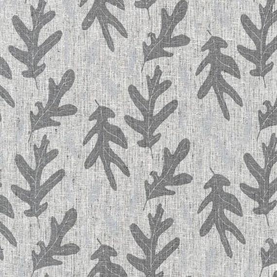 Quarry Trail by Anna Graham for Robert Kaufman, 100% Cotton Linen Canvas -- 25cm -- Oak in Charcoal