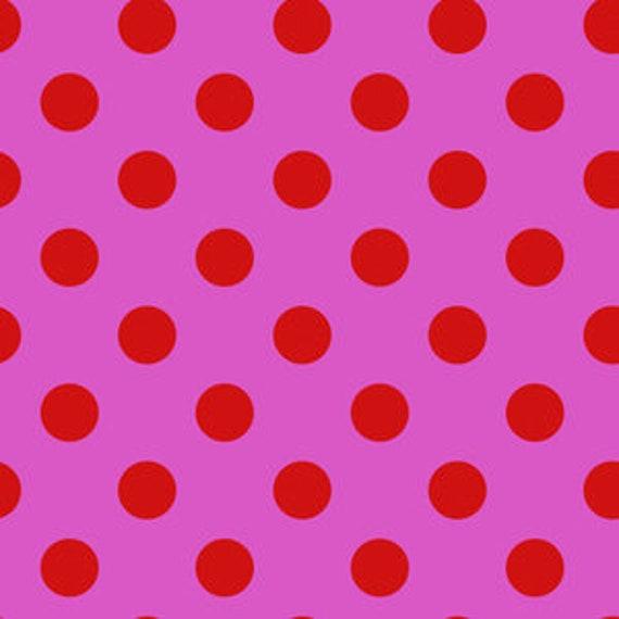 Fat Quarter Pom Poms in Peony  - Tula Pink's All Stars Fabric for Free Spirit Fabrics