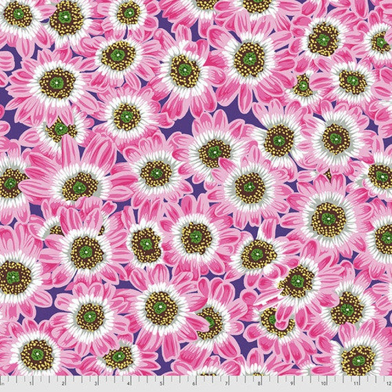 Kaffe Fassett Collective August 2021 -- Fat Quarter of Philip Jacobs Lucy in Pink