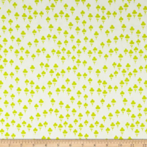 Front Yard -- Clovers in Green by Sarah Watts for Cotton and Steel