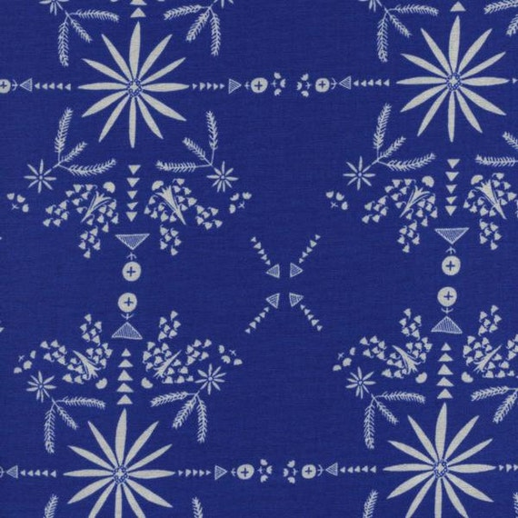 Paper Bandana - Bandana White in Blue by Alexia Marcell Abegg for Cotton and Steel