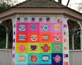 In Stock! Mad Hatter's Tea Party Quilt Kit by Tula Pink
