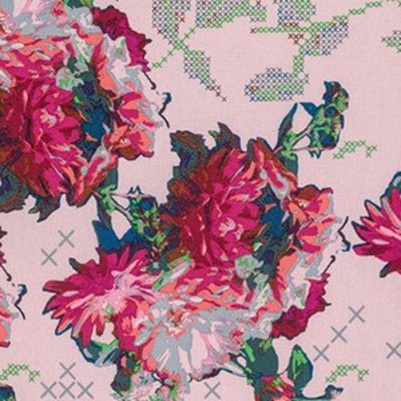 Mod Corsage by Anna Maria Horner for Free Spirit - Memory in Soft - Fat Quarter