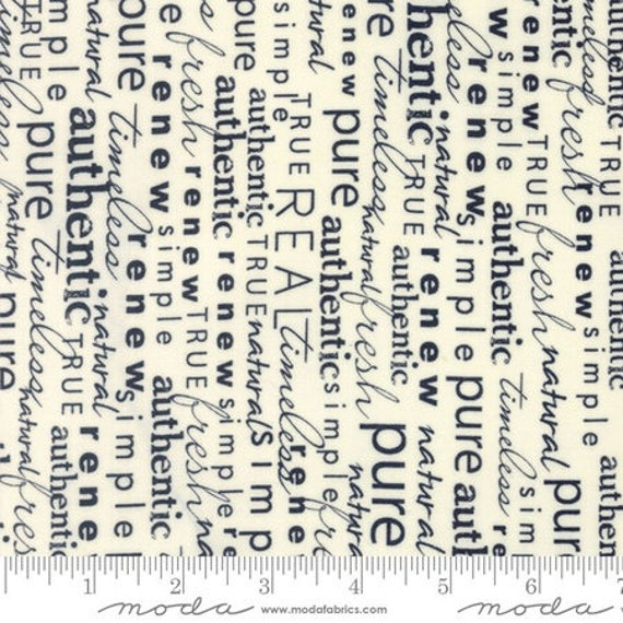 Moda Authentic Etc. -- Word Play on Cream (567512) by Sweetwater -- Fat Quarter